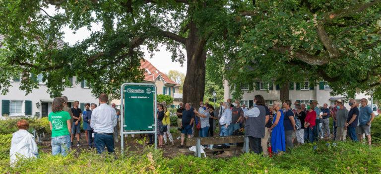 Eine Ehrennadel, 12 Schilder und 70 Gäste unter der Eiche